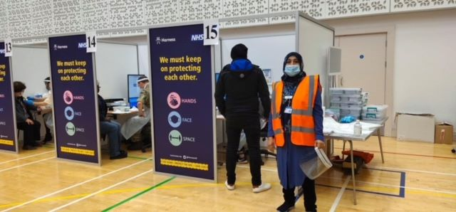 Kingsbury Temple UK's first vaccination hub