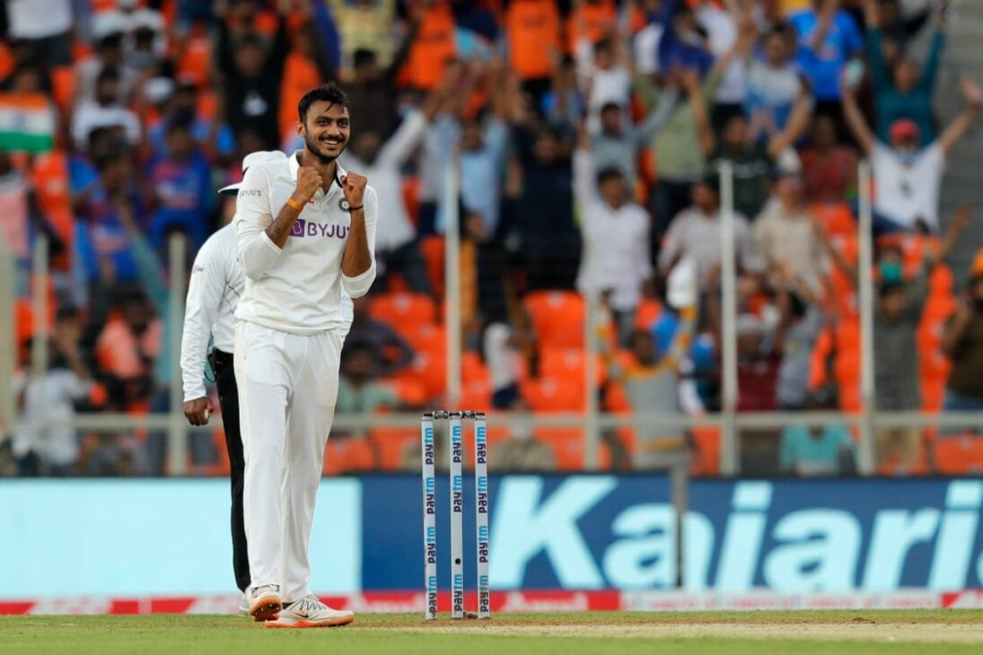 Axar Patel pins England on the 'mat'