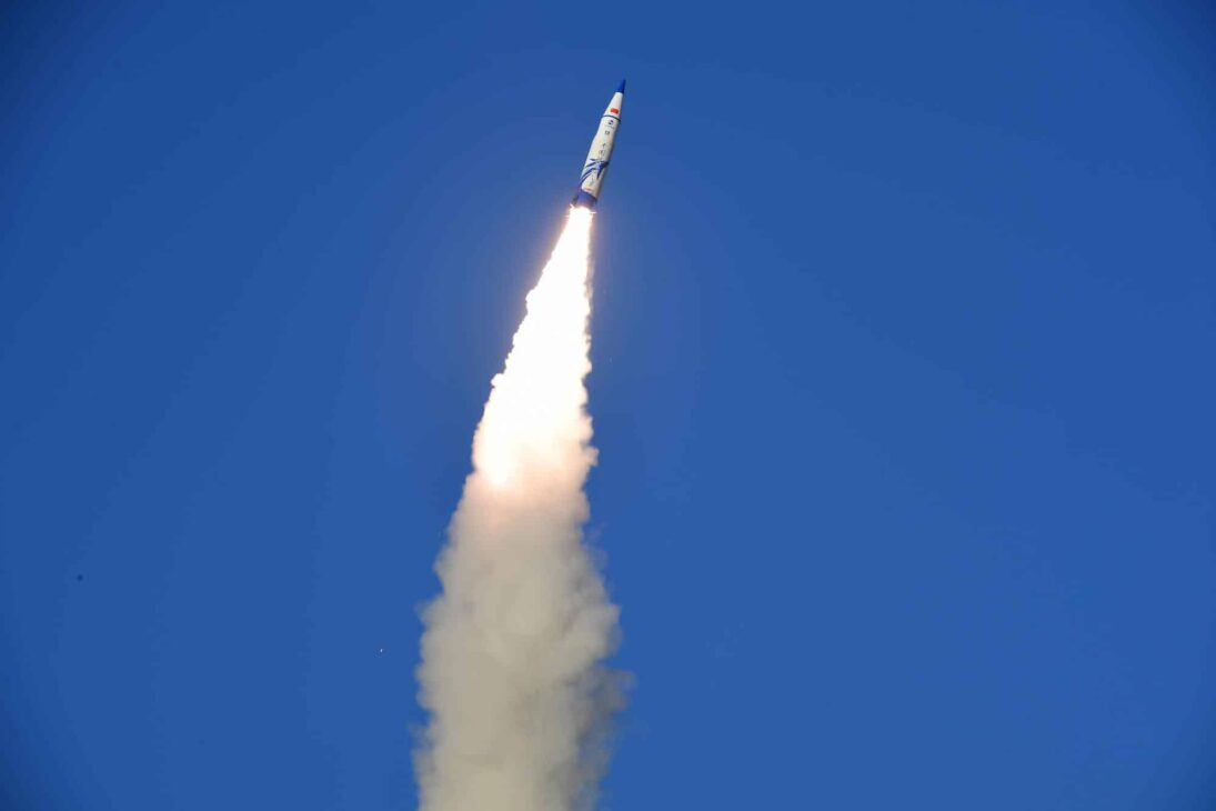 Out of control Chinese rocket falls over Indian ocean