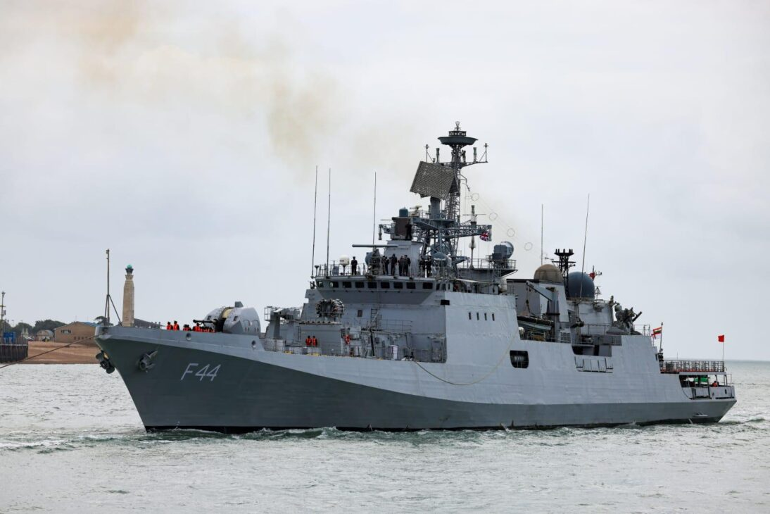 'Indian Naval Ship Tabar on Goodwill Visit to Portsmouth, UK